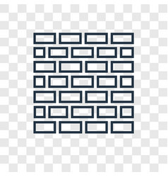 kotel concept linear icon isolated on transparent vector image