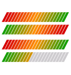 loading bar progress-level indicator with color vector image