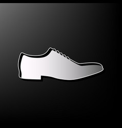 Men shoes sign gray 3d printed icon on vector
