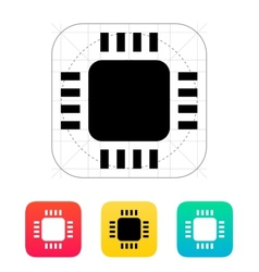 Mini CPU icon vector image