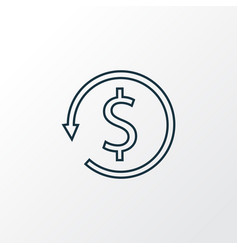 money back icon line symbol premium quality vector image