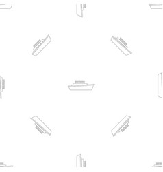 Motorboat pattern seamless vector