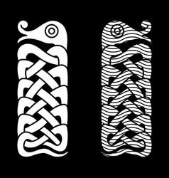 mythological serpent jormungand vector image