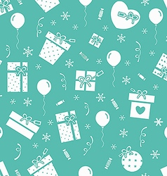 New Year party pattern 2 vector image