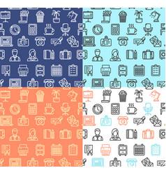 office work pattern background set vector image vector image