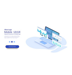 online statistics and data analyticsdigital money vector image