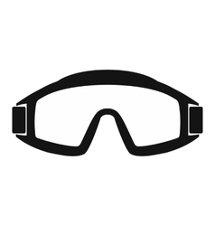 Paintball goggles simple icon vector image