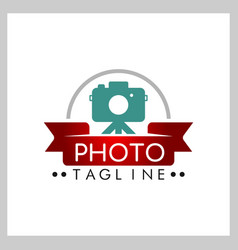 photography camera concept logo icon vector image