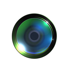 realistic high quality photo video lens vector image