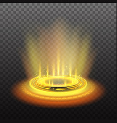 realistic yellow magic portal vector image