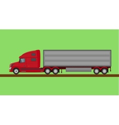 Red american truck isolated vector image