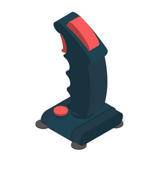 Retro joystick steering isolated old gamepad vector