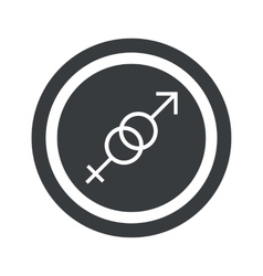 Round black gender sign vector image