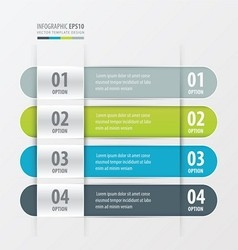 Rounded Banner template green blue gray color vector