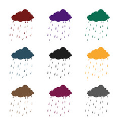 scottish rainy weather icon in black style vector image