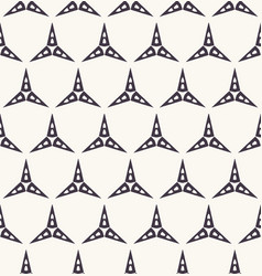 Seamless pattern hand drawn triangle star grid vector