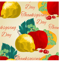 seamless texture thanksgiving day fruits vector image
