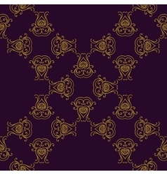 Seamless texture with luxury arabic ornament vector image
