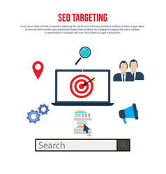 Seo targeting concept search engine optimization vector