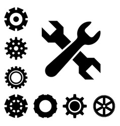 Service tools icons vector