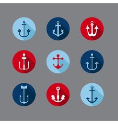 Set of Anchor Nautical Icons vector