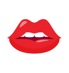 sexy red female lips vector image
