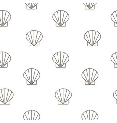 Shellfish seamless pattern background vector