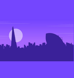silhouette of city hall london landscape vector image