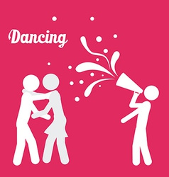 Singing and dancing icons vector
