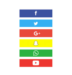 Social icon button set vector