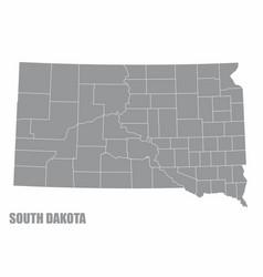 South dakota county map vector