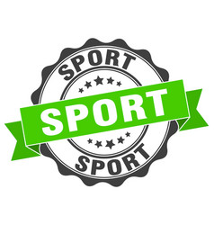 Sport stamp sign seal vector