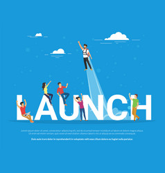 Startup launch concept business vector