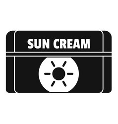 Sun cream icon simple style vector