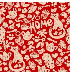 Sweet Home seamless pattern vector image