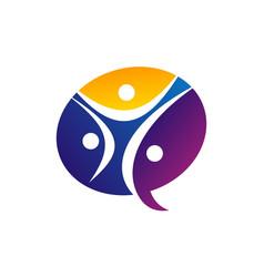 synergy communication logo design template vector image