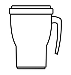 Thermo cup icon outline style vector