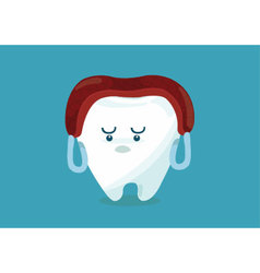 Tooth say meat over head vector image