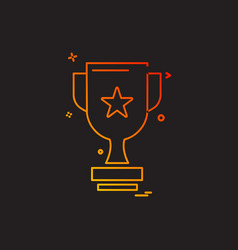 trophy icon design vector image