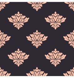 Vintage damask style seamless pattern vector image