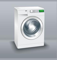 wash machine realistic image vector image