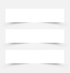 white frame banners with shadows on gray vector image