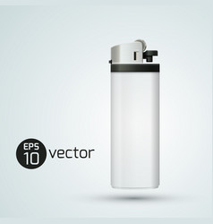 White isolated realistic gas lighter vector
