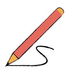 Drawing pencil write wooden tool office shadow vector
