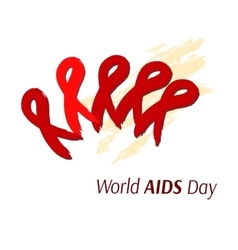 Hand-drawn ribbon symbolizing AIDS Artistic vector image vector image