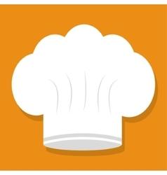Hat of restaurant chef design vector