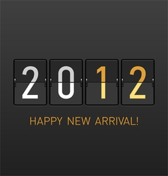 new year arrival 2012 vector image