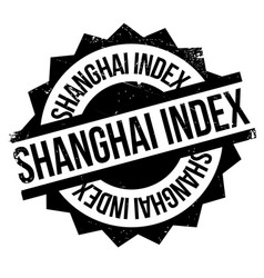 shanghai index rubber stamp vector image vector image