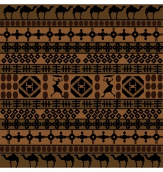 African motifs and camels vector image vector image