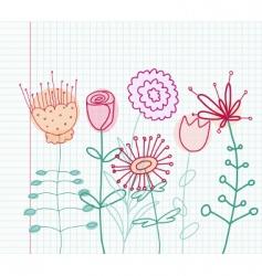 childlike flowers vector image vector image